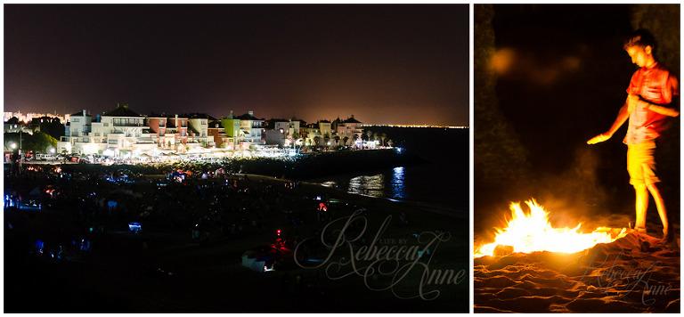 El puerto de Santa Maria-Puerto Sherry-St. Johns Day-night-beach-bonfire