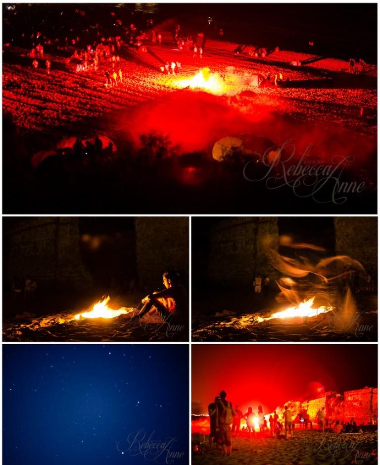 El puerto de Santa Maria-Puerto Sherry-St. Johns Day-Spain-night-beach-bonfire-flare-2012