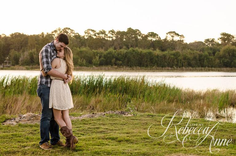 engagement couple, lake, couple, sunrise, embrace, hug