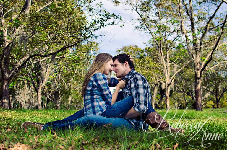 couple, country, plaid, embrace, engagement couple