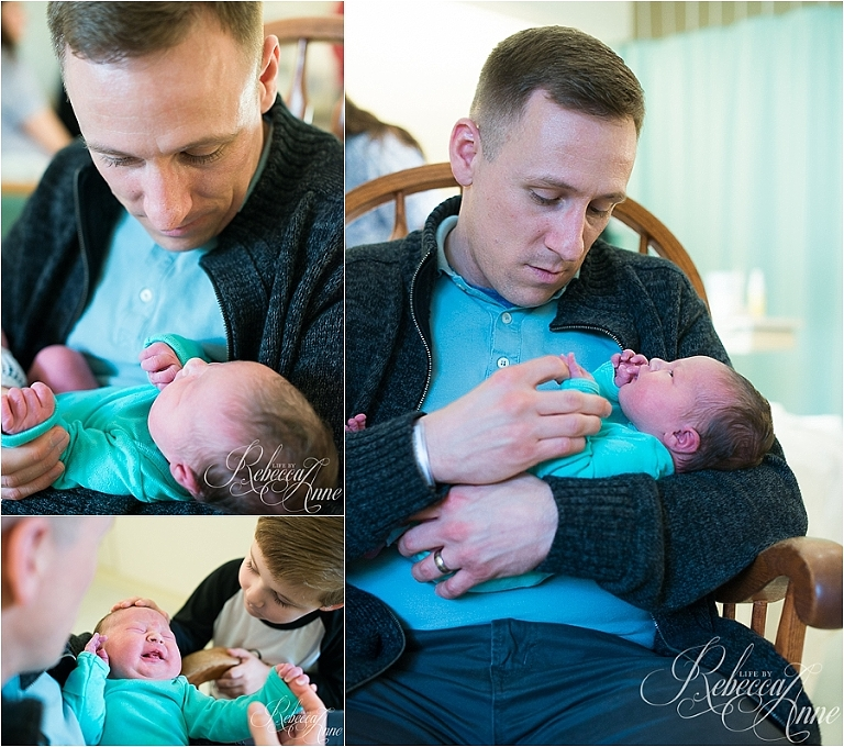 father, daughter, hospital, newborn, infant, birth, baby, girl, brother, sister
